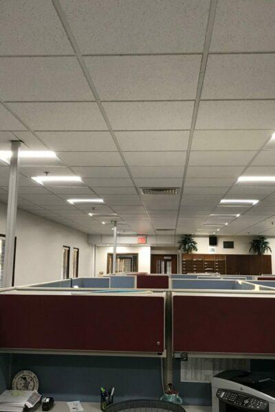 Fusion solar-powered office lighting